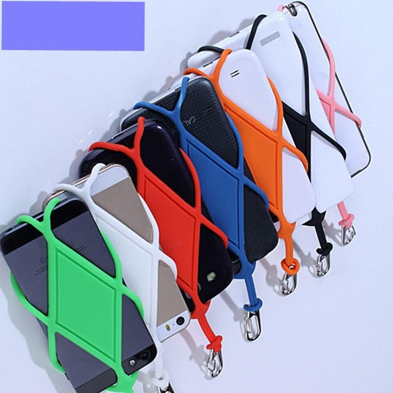 Silicone universel Téléphone Portable Lanière Porte-Housse Téléphone Sangle de Cou Collier Sangle Pour téléphone Mobile Intelligent lanière pour téléphone