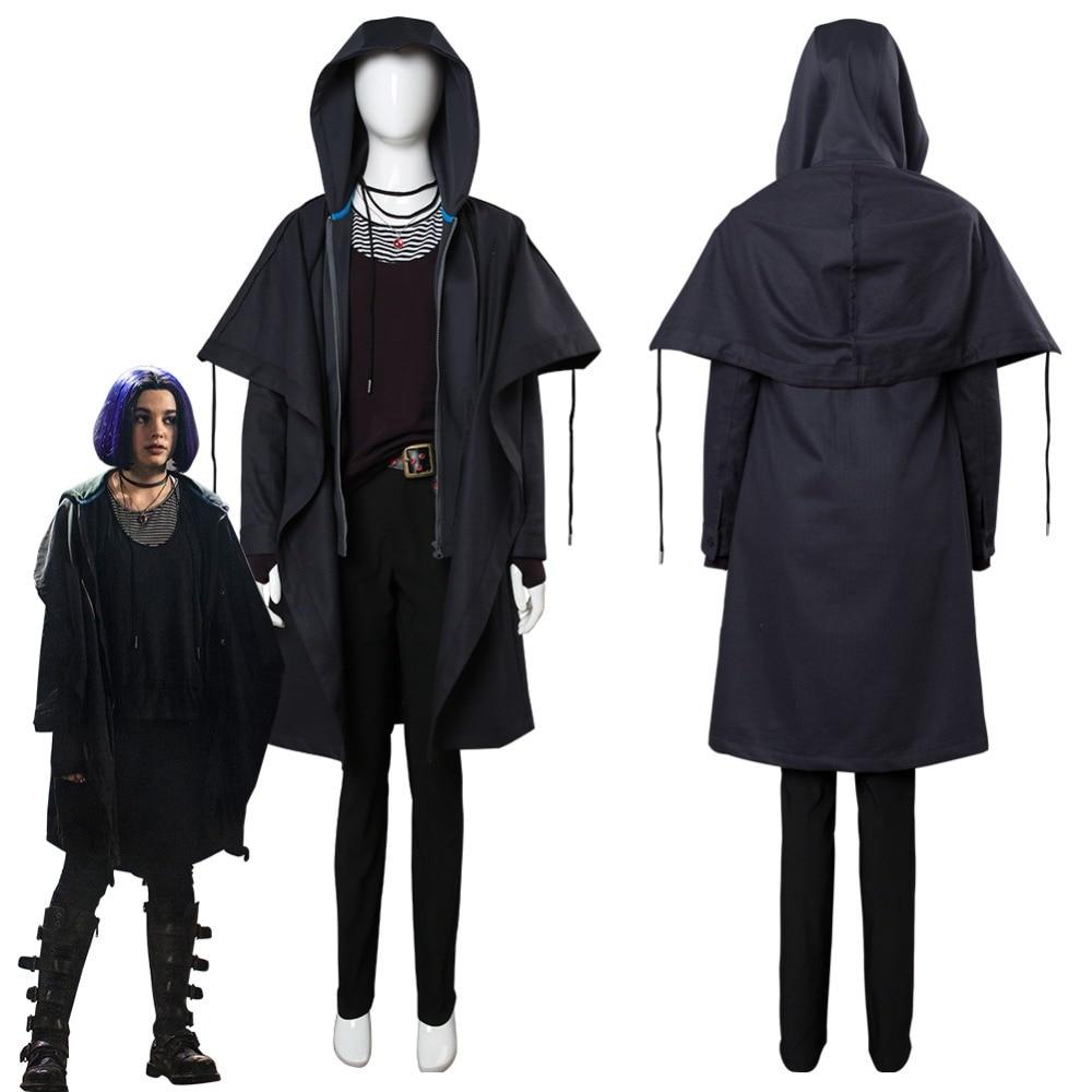 2018 Cosplay de Titans, disfraz de Cosplay de Rachel Roth, disfraz de adulto, capa, disfraces de Carnaval de Halloween
