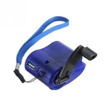 2017 nouveau chargeur de téléphone durgence de voyage USB Dynamo chargeur manuel à main bleu