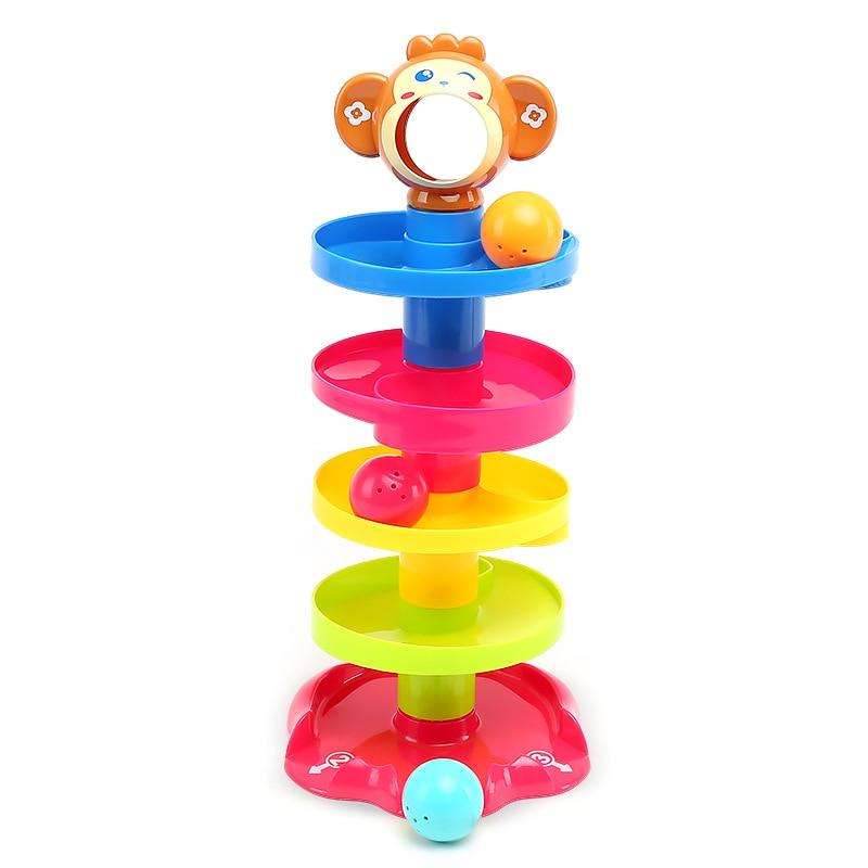 Juguetes populares para niños, posavasos de múltiples capas con bola enrollable, bloques de interconexión, juguetes multicolores para bebés, regalos de cumpleaños y Navidad