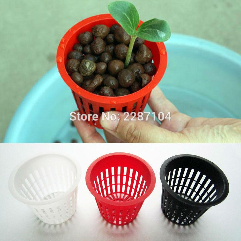 10X Heavy Duty Black Red White Mesh Pot Net Cup Basket Flower Plant Green Organic Vegetable Grow Clone Cloning Hydroponic 3 inch