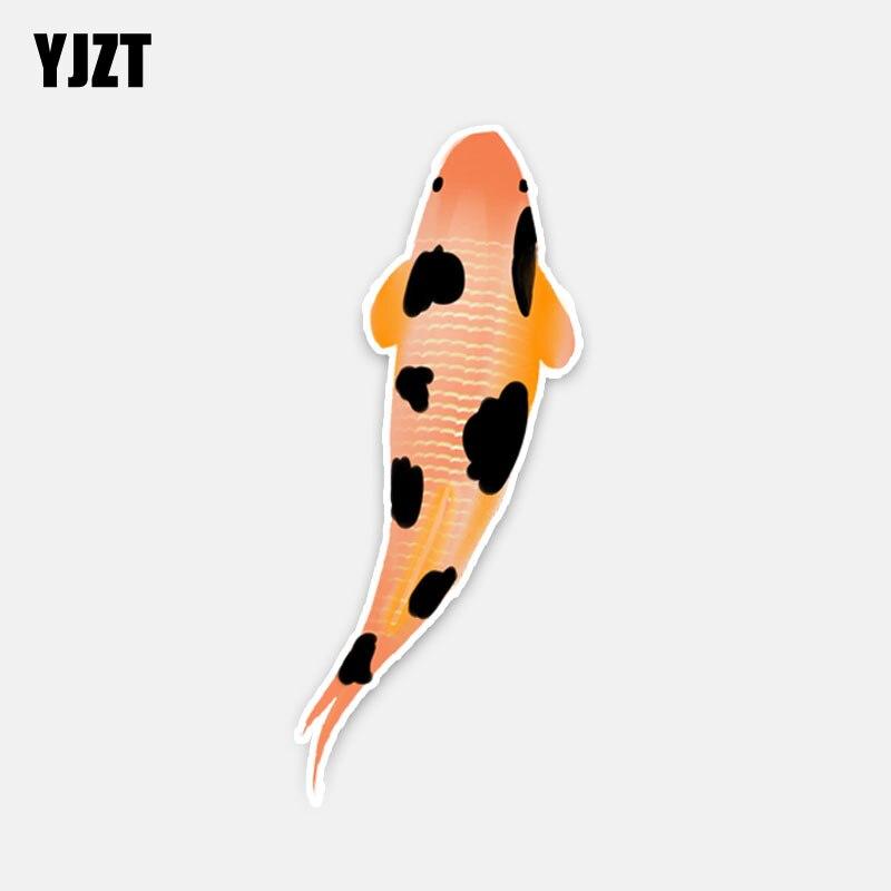 YJZT, 6,2 CM x 15,2 CM, símbolo de carpa Koi a la moda de buena suerte, pegatina de PVC de gran calidad, pegatinas para coche, 5-0200