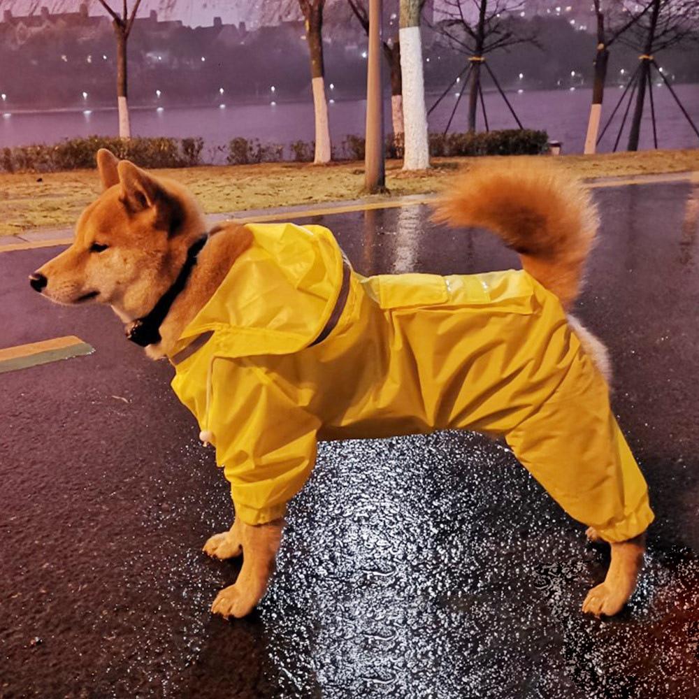 Šunų lietpalčio kombinezonas šunims naminiams gyvūnėliams, - Naminių gyvūnėlių produktai - Nuotrauka 5
