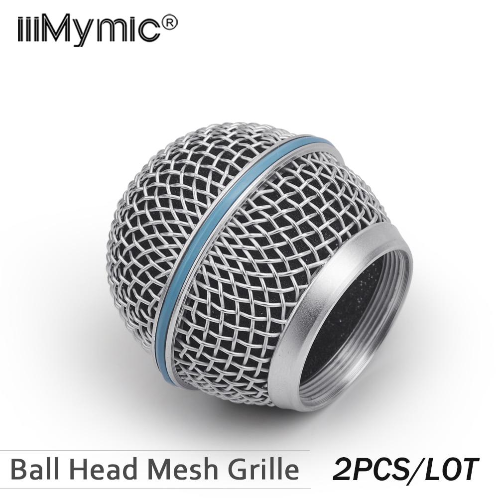 2 шт., новая сменная микрофонная решетка с шаровой головкой для Shure BETA58 BETA58A SM 58 SM58S SM58LC