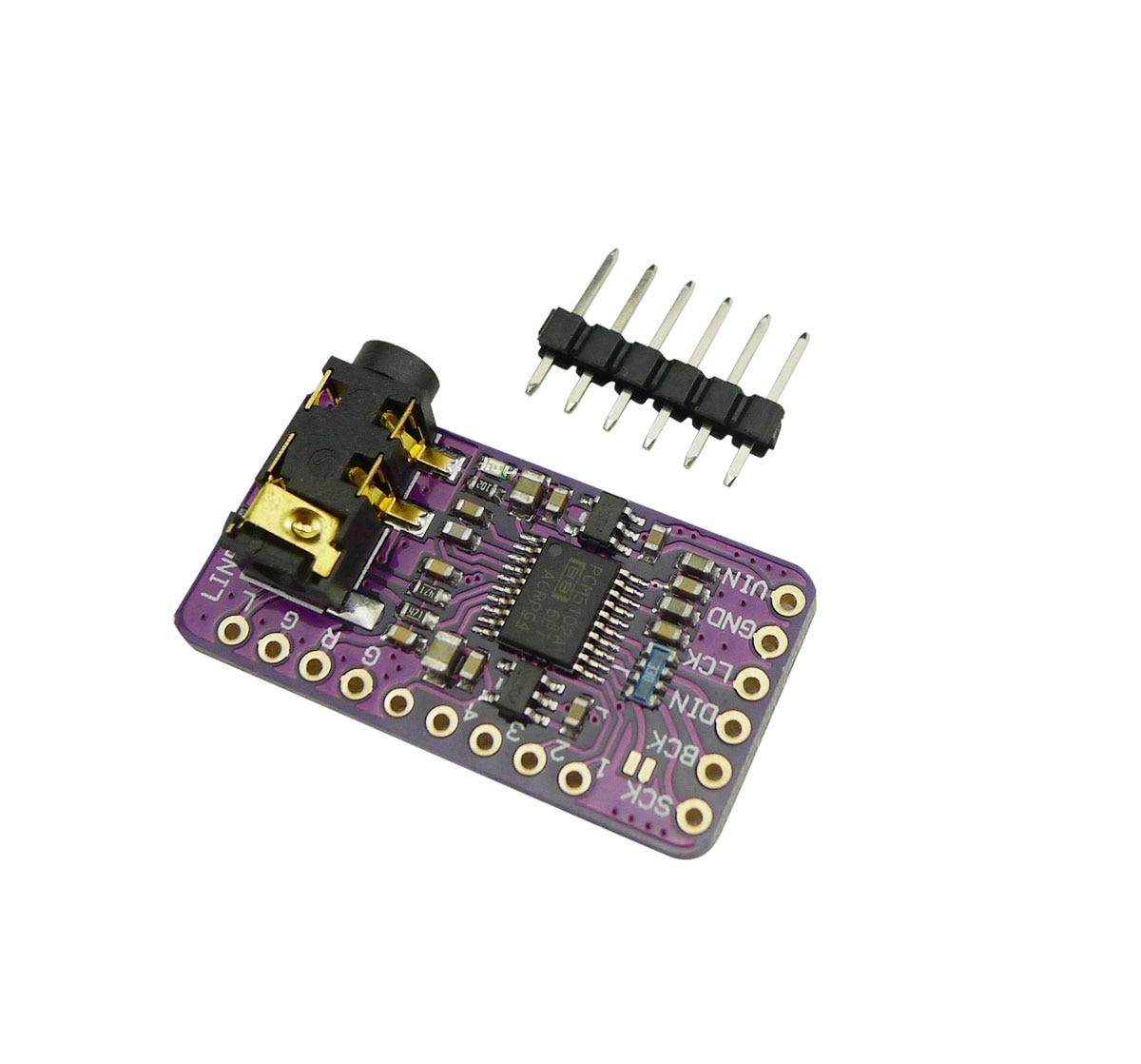 Aihasd Interface I2S PCM5102 DAC Decoder GY-PCM5102 I2S Player Modul Für Raspberry Pi pHAT Format Bord Digital Audio Board