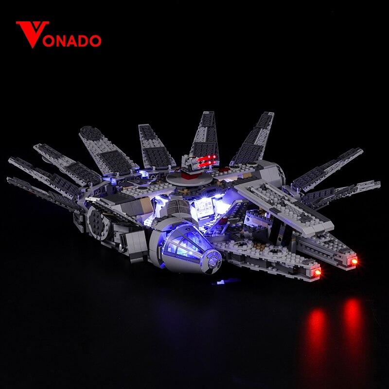 Luz Led Compatible con bloques de construcción Lego 75105, el despertar de la fuerza Halcón Milenario, 05007 (solo luz + caja de batería)