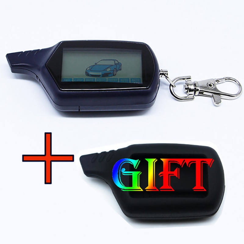 B6 2-way LCD Remote Control Key Fob Chain For Russian Vehicle Security Two way Car Alarm System Twag