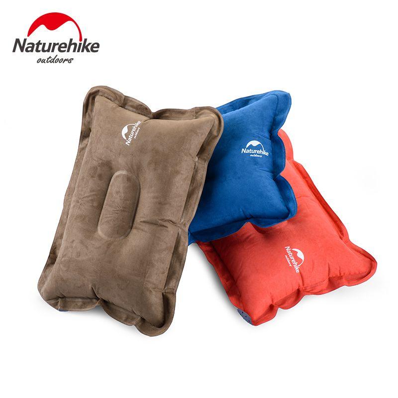 Naturehike outdoor inflatable pillow travel air neck pad protect headrest car flight soft cushion single camping mat for lumbar