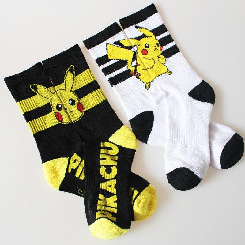 Nuevos calcetines de mujer de algodón Unisex de Pokemon Ball, calcetines de dibujos animados para hombre, regalos, Pikachu Jacquard Cartoon prototipo Calcetines para hombre