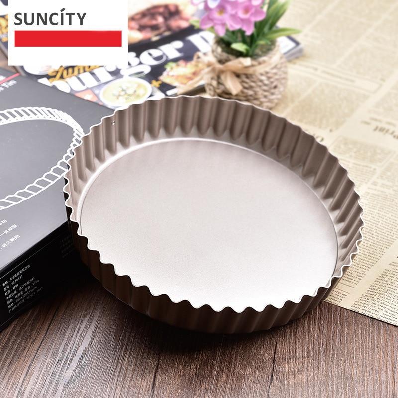 Неклещевая металлическая сковородка для тортильи со съемным дном для выпечки оловянные пирожные сковороды стальной лоток для пиццы Маффин...