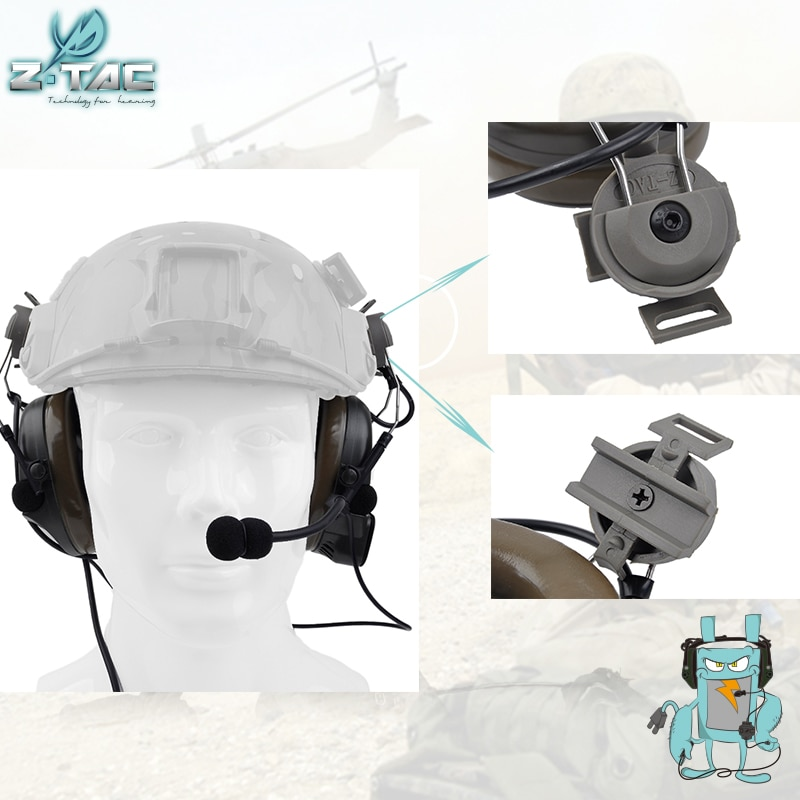 Element Z-tac Tactical Comtac I Headset For FAST helmets Airsoft Outdoor Hunting Fast Helmet Accessories Z032