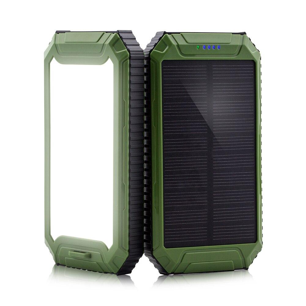 PowerGreen batería Original de polímero de litio 10000mAh Cargador Solar banco de energía Solar Mini Panel Solar para teléfonos
