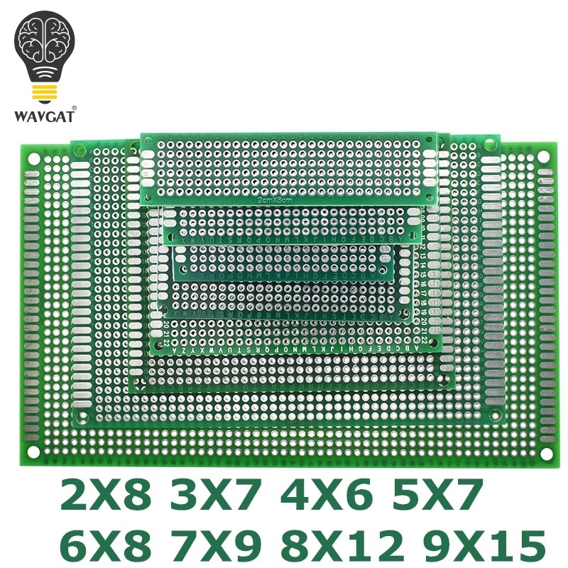 9x15 8x12 7x9 6x8 5x7 4x6 3x7 2x8 cm Double Side Prototype Diy Universal Printed Circuit PCB Board Protoboard For Arduino