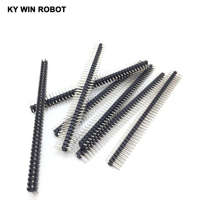 10 шт., двухрядные медные штырьковые контакты, 2,54 мм, 2x40, 80 контактов