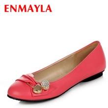 ENMAYLA blanc noir rouge vert rose chaussures plates femmes décontracté chaussures à enfiler femme grande taille 47 femme Ballet chaussures femmes Topsider