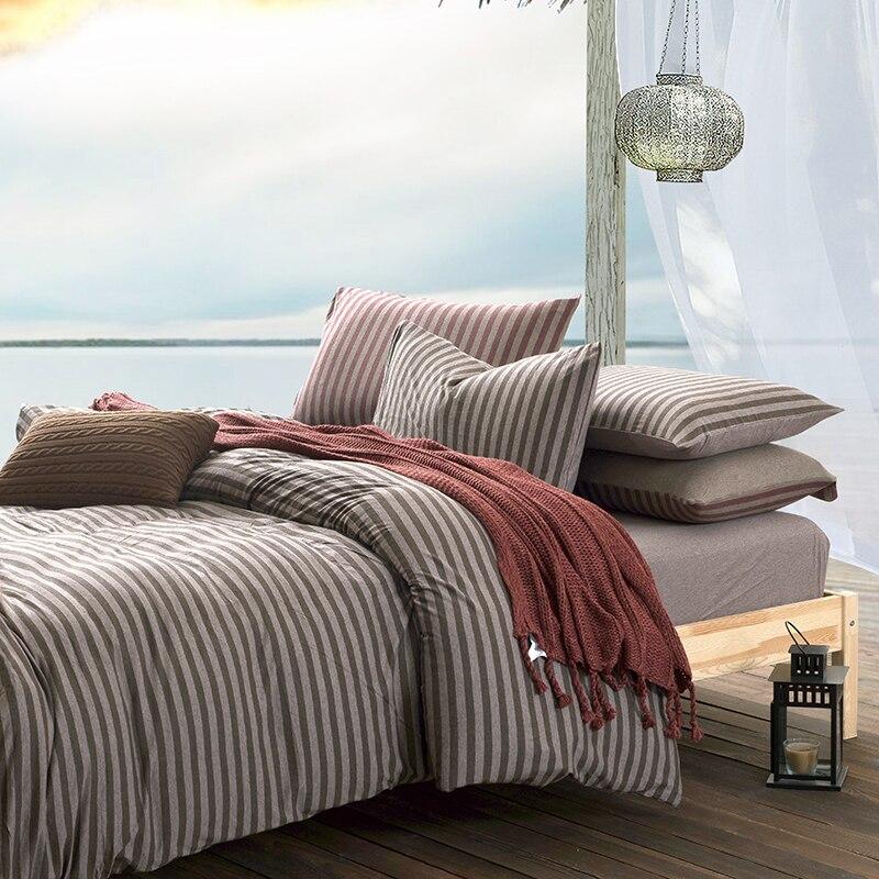 Nuevo diseño de edredón de punto de algodón 100%, juego de cama, funda de edredón, Sábana de cama, 4 Uds., tamaño King, descuento, algodón lavado