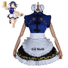 Amour Live Sunshine Matsuura kanan Cheongsam femme de chambre tablier robe uniforme tenue Anime Cosplay Costumes