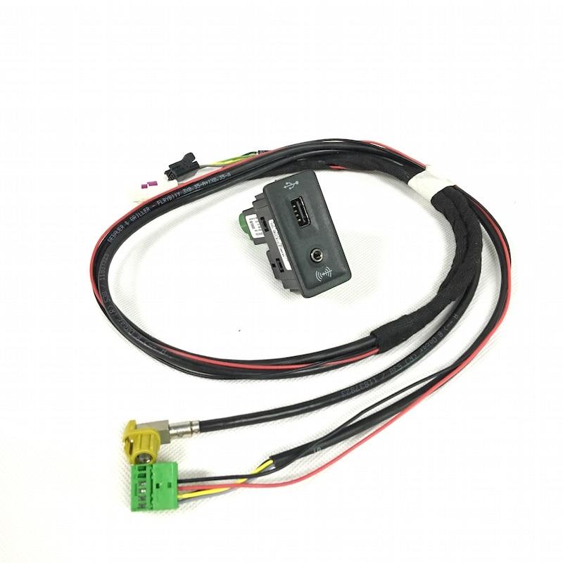 BODENLA CarPlay колпачок с проводом/кабелем/жгутом MDI USB AMI для VW Golf 7 MK7 5G0 035 222 E 5G0035222E