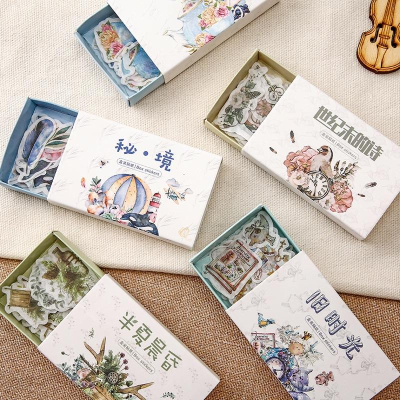 40-pz-lotto-vecchi-tempi-vintage-adesivi-floreali-set-scrapbooking-adesivi-per-diario-planner-fai-da-te-artigianato-scrapbooking
