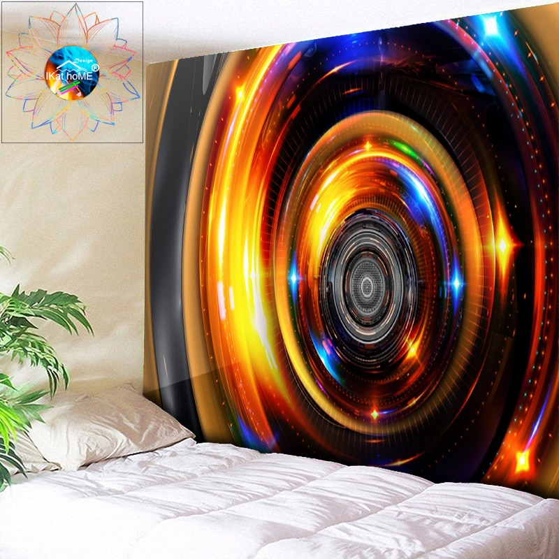 Tapiz de Mandala bohemio de cuerno abstracto tapiz de pared decoración psicodélica tapiz de pared Hippie tapez pared tela toalla playa