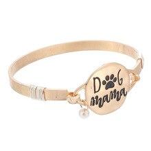 Message Metal Hook Bracelet Disc Wire Inspirational Cuff Bangle Motivational Encouragement Bracelets Pearl Charm
