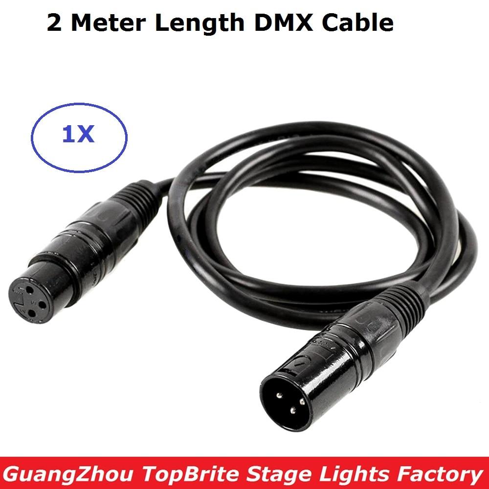 Audio Cable 3PIN XLR Male to Female 2 Meter Length DMX Stage Light Cable Stage Light Microphone Cable For LED Par Moving Head tiptop tp d16 artnet dmx 4 four way artnet dmx bi directional converter 4 female 3pin xlr in out signal converte ethernet cable