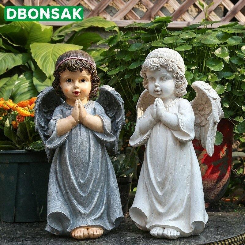 حديقة الديكور في الهواء الطلق حديقة الجنية النحت حديقة الديكور الديكور الراتنج الشكل الملاك الحلي التماثيل سطح المكتب