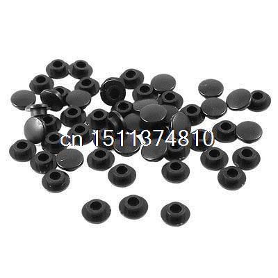 55 Uds Mini tapas de botones táctiles redondas cubiertas Protector negro para Interruptor táctil