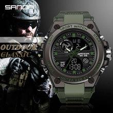 SANDA Brand G Style Men Digital Watch Shock Military Sports Watches Fashion Waterproof Electronic Wristwatch Mens 2020 Relogios