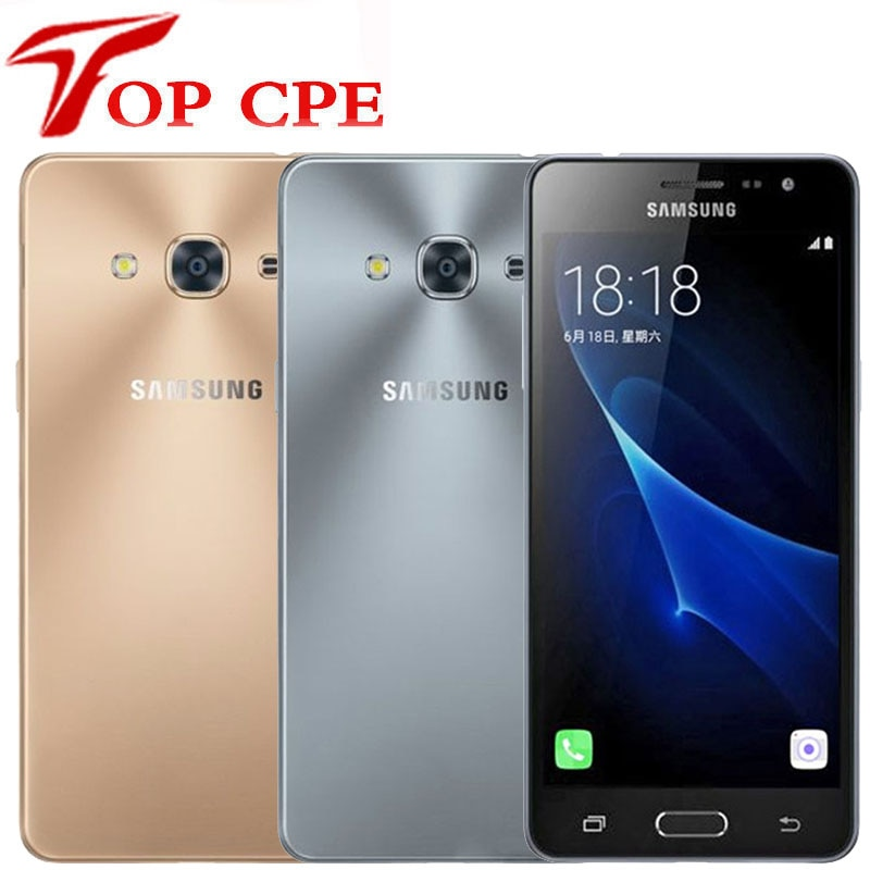 "Samsung Galaxy J3 Pro Original desbloqueado teléfono móvil 5,0 ""2GB RAM 16GB ROM Quad Core Dual Sim 8MP Cámara J3110 móvil Android"