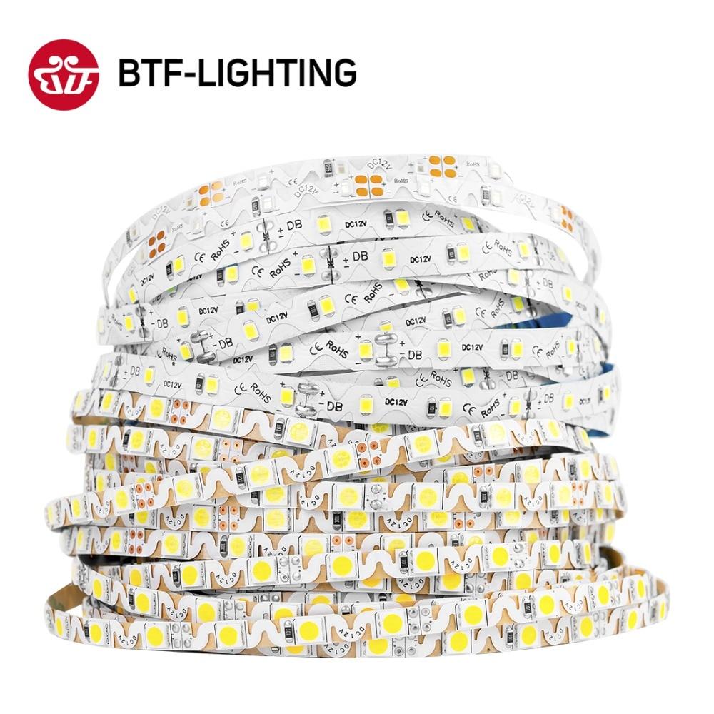 Tira de luces Led SMD 2835/5050 en forma de S, 5m, 300 luces Led Ulter brillantes y flexibles, cinta luminosa LED, tira roja/Verde/azul/blanca/cálida DC12V
