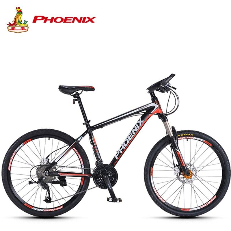 Bicicleta de Montaña Phoenix de 27 velocidades, bicicleta de acero para hombre y mujer, bicicleta MTB de suspensión Microshift, horquilla para bicicleta para adultos, bicicleta fuera de Ciclismo de Carretera