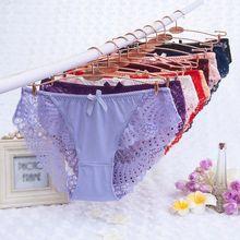 Dames sous-vêtements femmes culottes Sexy dentelle culotte Transparent taille basse grande taille XXXL slips femmes intimes offre spéciale X3