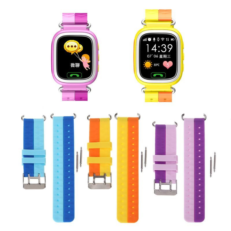 OOTDTY reloj de pulsera de silicona para niños GPS reloj inteligente de serie 1 2 pulsera