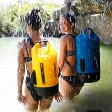 NatureHike Waterproof Dry Bag Backpack 20L 30L 40L Splash Proof Bag for Laundries Rolltop Drybag for Water Sports Kayak Boating