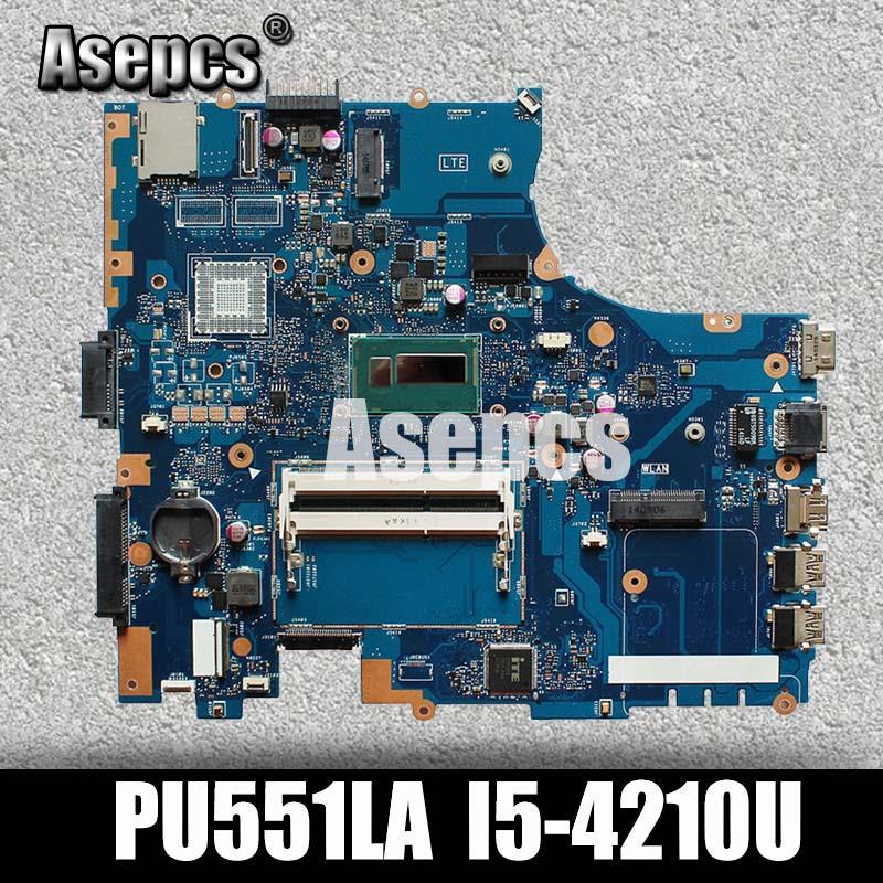 Get Asepcs PU551LA Laptop motherboard For Asus PU551LA PU551LD PU551L PRO551L Test original mainboard I5-4210U