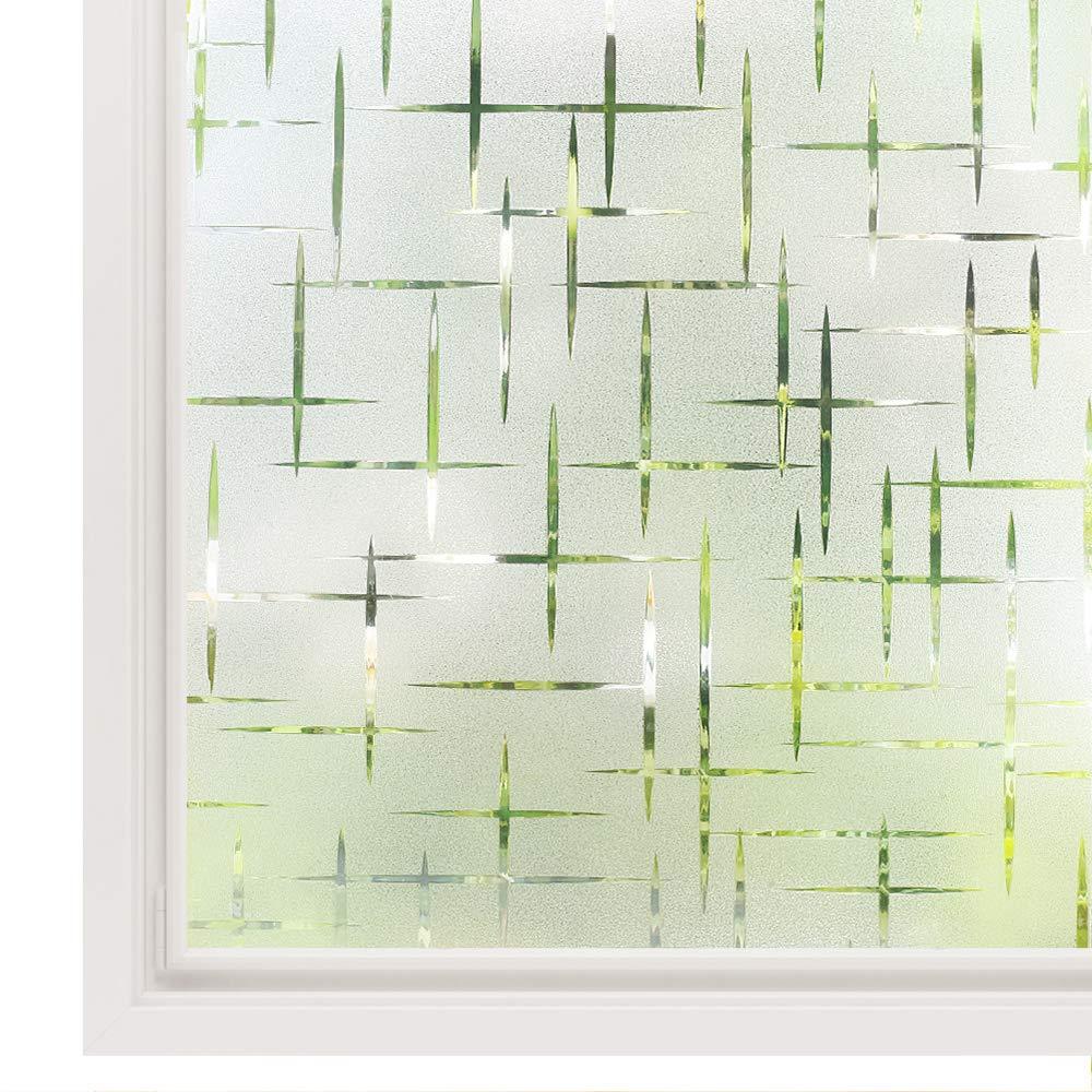 Funlife 30/45/60/75/90*300cm Frosted sin pegamento estática decorativa pegatinas de ventana translúcida impermeable película para privacidad de ventana