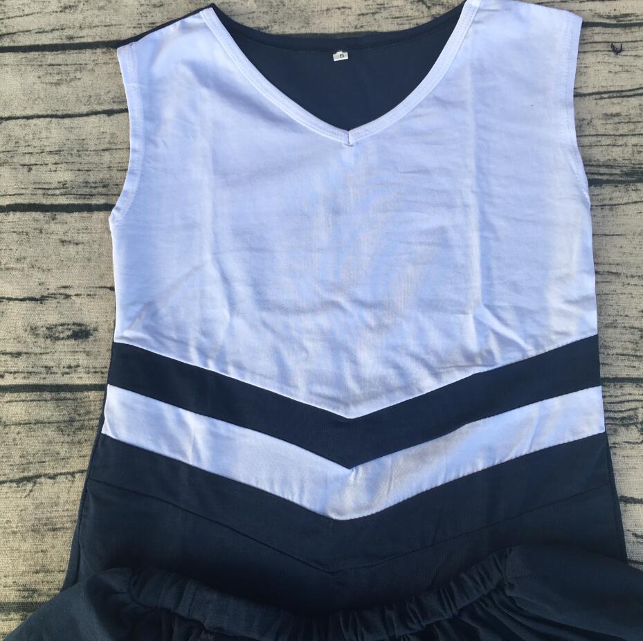 أزياء موحدة للأطفال, بوتيك ملابس رائجة البيع تصميم خاص مزدوج اللون للفتيات المشجعين
