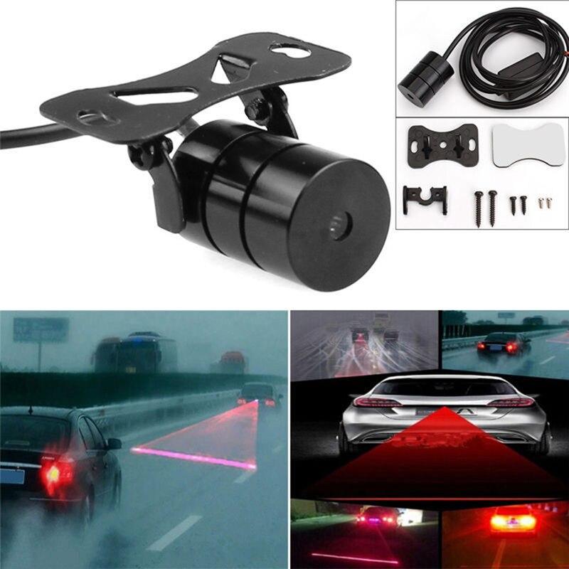 Luz traseira do laser do carro da anti colisão 12v conduziu luzes de nevoeiro do carro lâmpadas de estacionamento do freio automático luz de advertência para o carro-estilo do carro venda quente