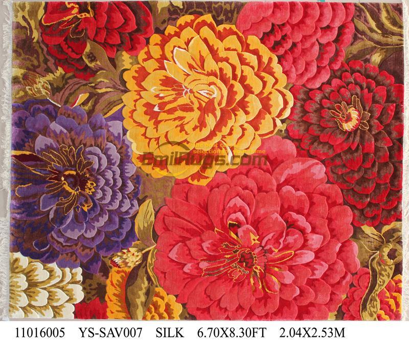Alfombra gruesa y de felpa Savonnerie Europea hecha a mano, alfombras de punto de lana, alfombras de camino turco