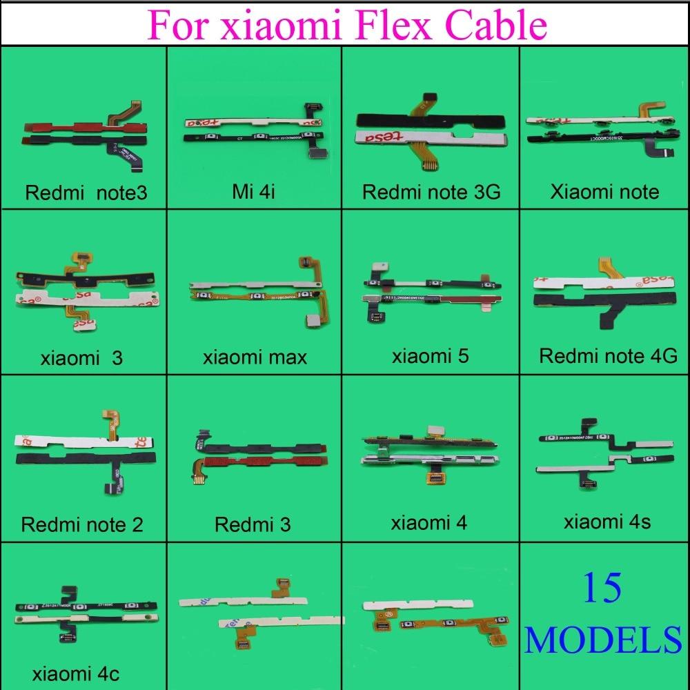 YuXi volumen arriba/abajo + botón de encendido/apagado Cable flexible para Xiaomi MAX 5 4 4S 4c 4i 4g Mi pad 1 2 Note 2 3 3g piezas de reparación de teléfonos