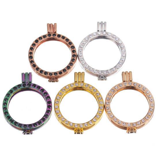 Soporte para monedas de 35mm de alto grado con diamantes de imitación que combinan con 33mm de moneda de disco