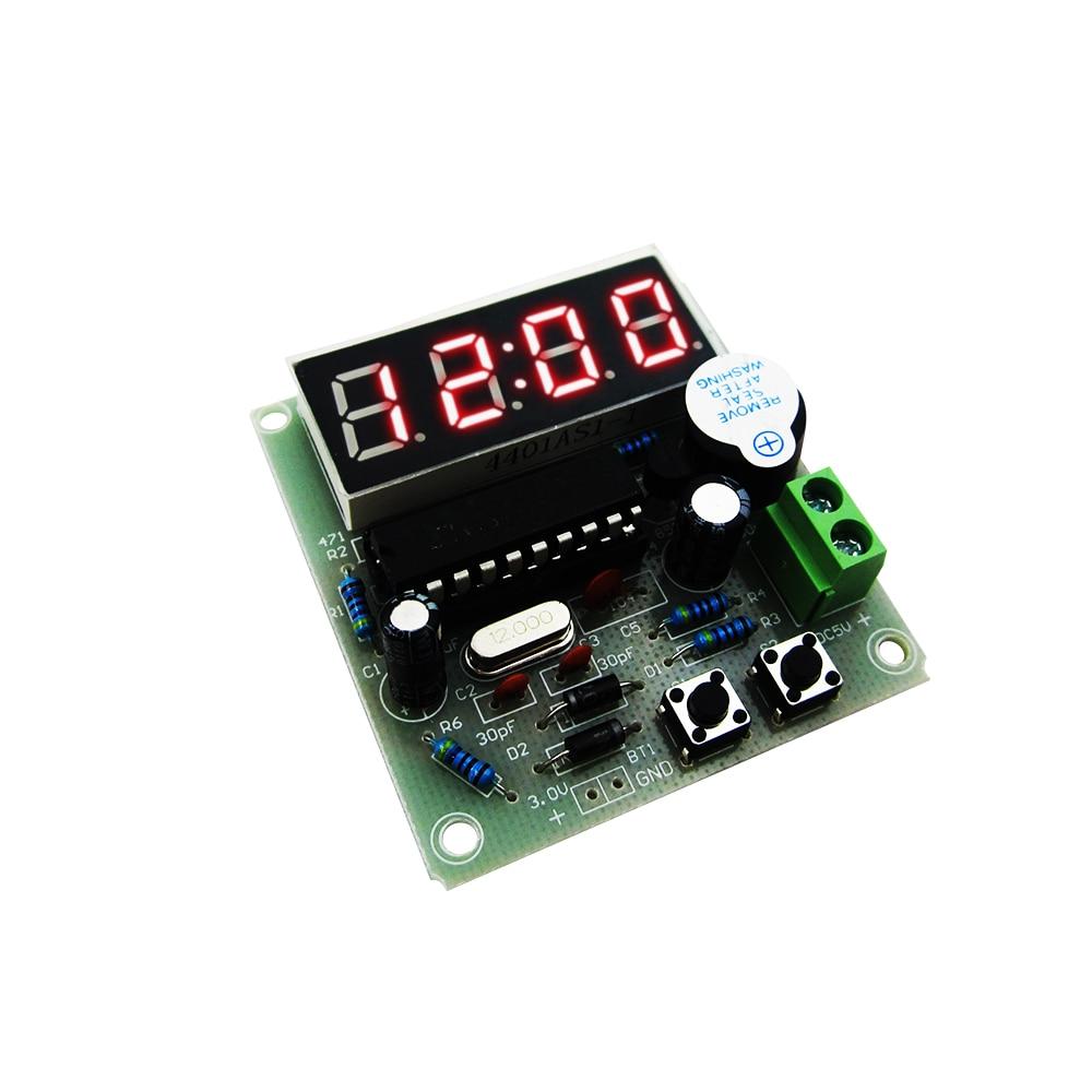 1set High Quality C51 4 Bits Electronic Clock Electronic Production Suite DIY Kits