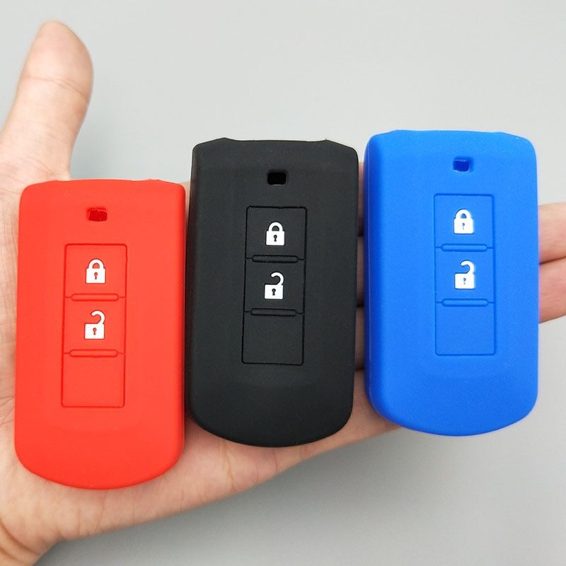 Para mitsubishi outlander asx axr rvr nativa pajero montero lancer shogun 2 botão remoto proteger silicone chave do carro caso capa