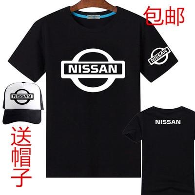 Camiseta de manga corta de verano Nissan, camiseta masculina femenina para hombre, incluye gorras de béisbol