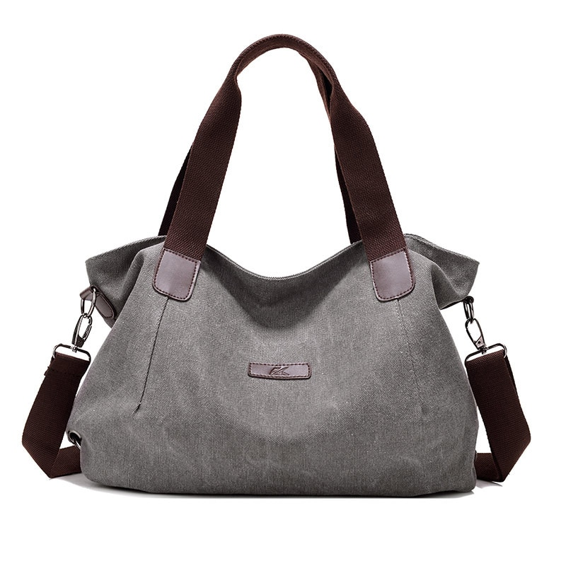 KVKY-حقيبة كتف قماشية نسائية ، حقيبة حمل كبيرة السعة ، حقيبة حمل ، ترفيهي ، مجموعة جديدة 2018