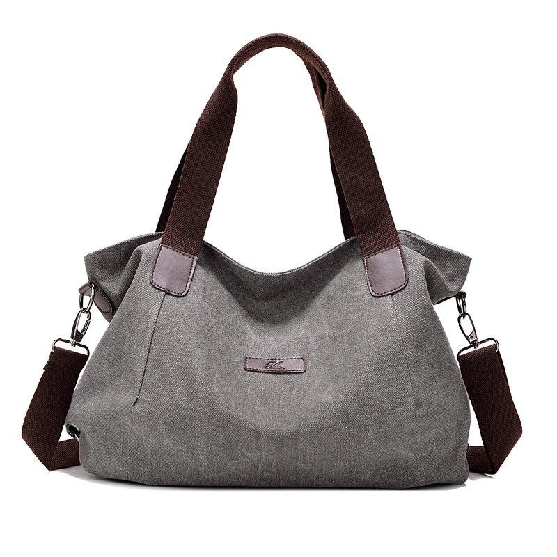 Kvky marca 2018 nova senhora lona bolsa de ombro das mulheres bolsa bonito da menina sacola feminina grande capacidade lazer saco sac um principal