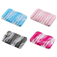 Hot New Creative Comb Silicone Soap Holder Anti-skid Drain Soap Box Home Travel Soap Dishes Bathroom Set Free Shipp