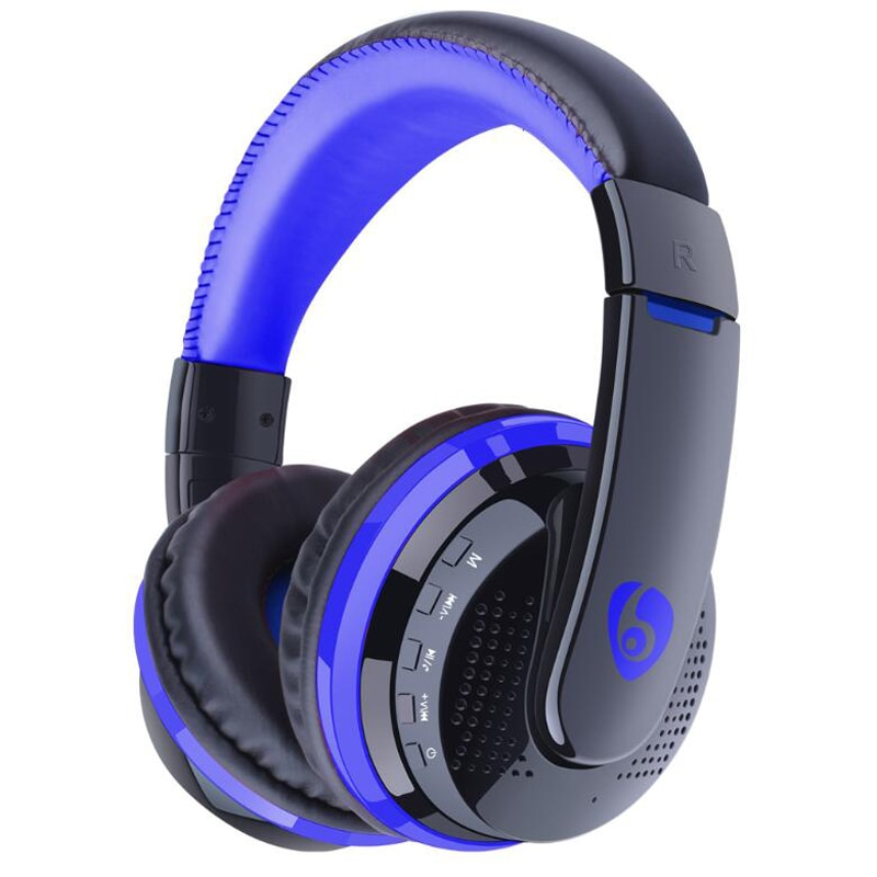 NVAHVA auriculares Bluetooth reproductor de MP3, Cable auxiliar de 3,5mm tarjeta FM auriculares MP3, auriculares inalámbricos Bluetooth para teléfono PC TV Pod juego