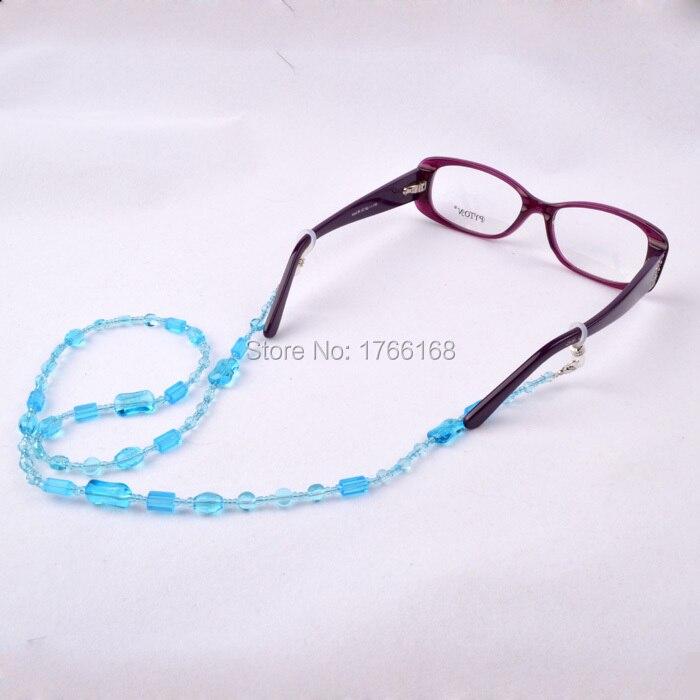 الجملة 20 قطع الأزرق مطرز نظارات شمسية نظارات القراءة الزجاج حامل الحبل رباط العنق حزام